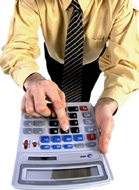 accountant with calculator